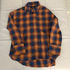 Madewell Flannel Buttondown XXS NWOT